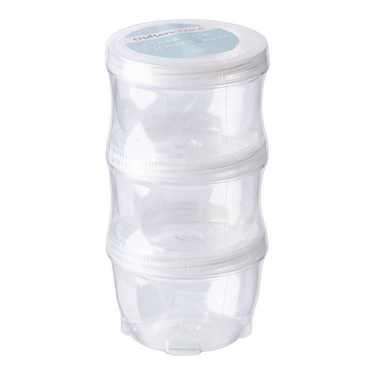 Crafters Choice Large Connector Storage Jars 3 Pack