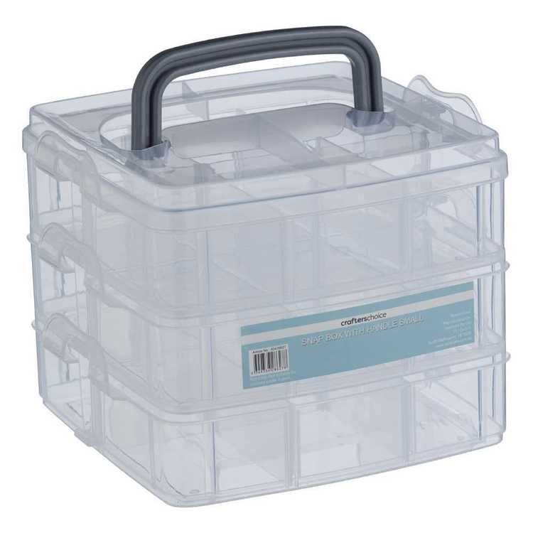 Crafters Choice Small Snap Box with Handle Clear