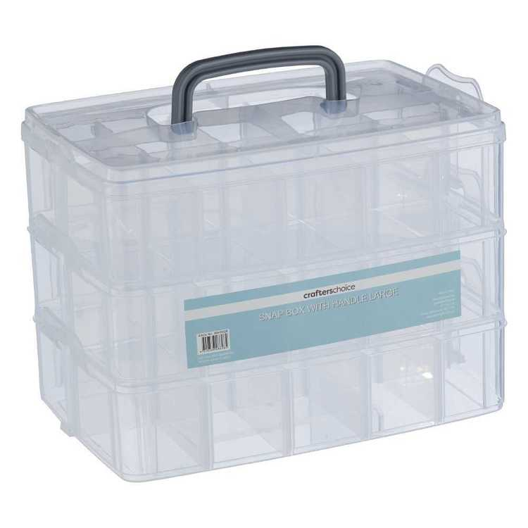 Crafters Choice Large Snap Box with Handle Clear