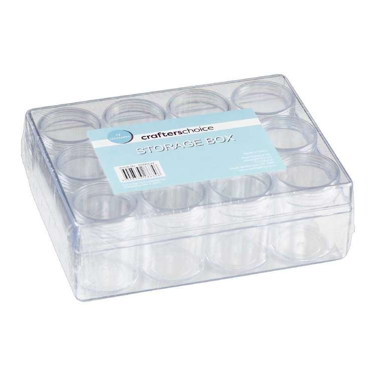 Crafters Choice Storage Box 12 Containers Clear