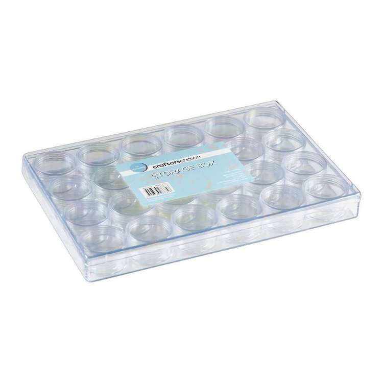 Crafters Choice Storage Box 24 Containers Clear