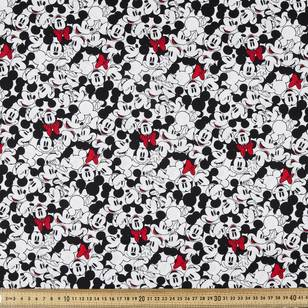 Mickey & Minnie All over Poplin Fabric