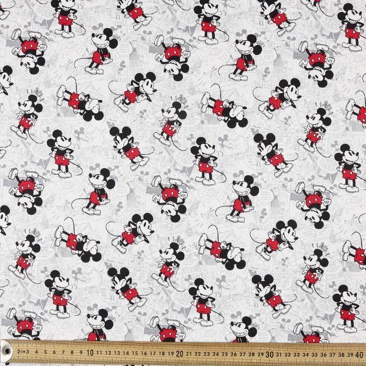 Mickey Newsprint All over Drill Fabric