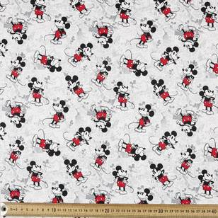 Mickey Newsprint All over Drill Fabric
