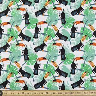 Retro Toucan #2 Printed Poplin Fabric