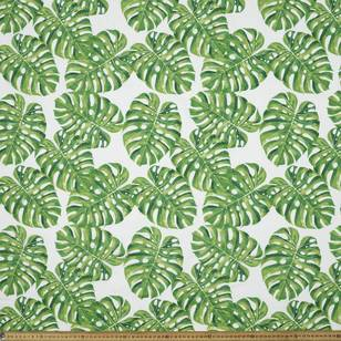 Tropical Palm Leaves Printed Poplin Fabric