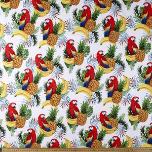 Pineapple And Banana Printed Poplin Fabric