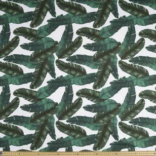 Palm Leaves Long Patterned Printed Poplin Fabric