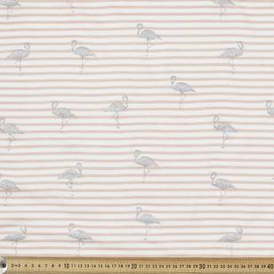 Flamingo Printed Cotton Spandex Fabric