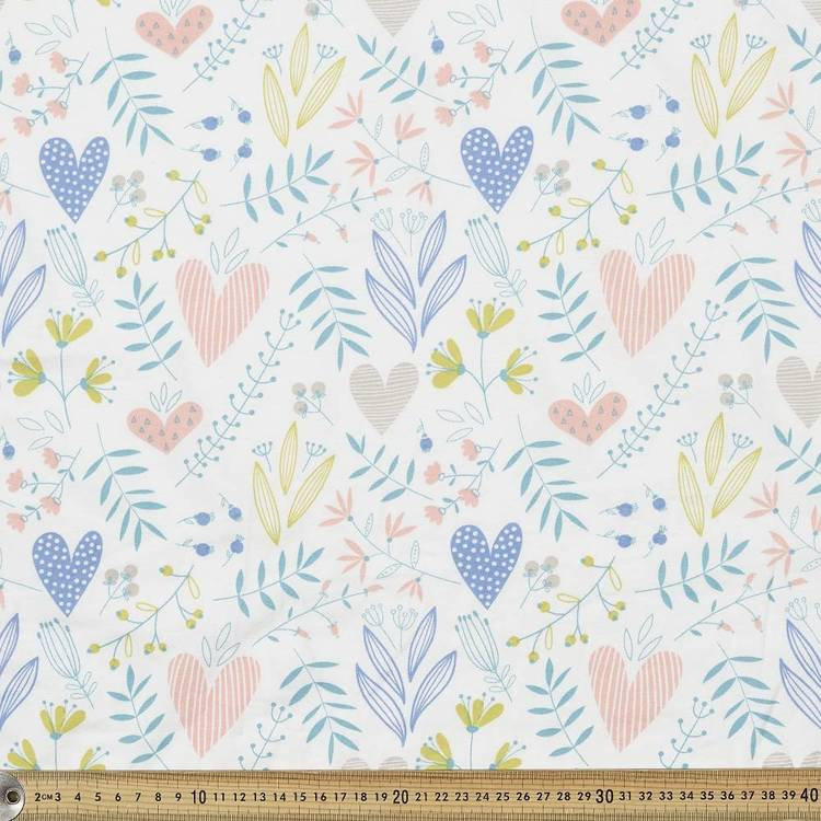 Flowers Printed Cotton Spandex Fabric