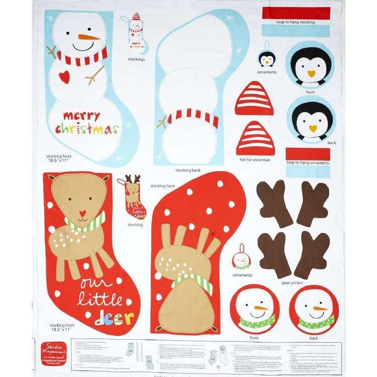 Christmas Holiday Stockings Panel
