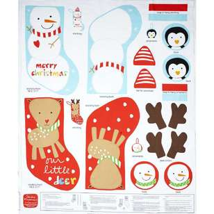 Christmas Holiday Stockings Panel