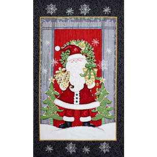 Christmas Winter Greeting Santa Panel
