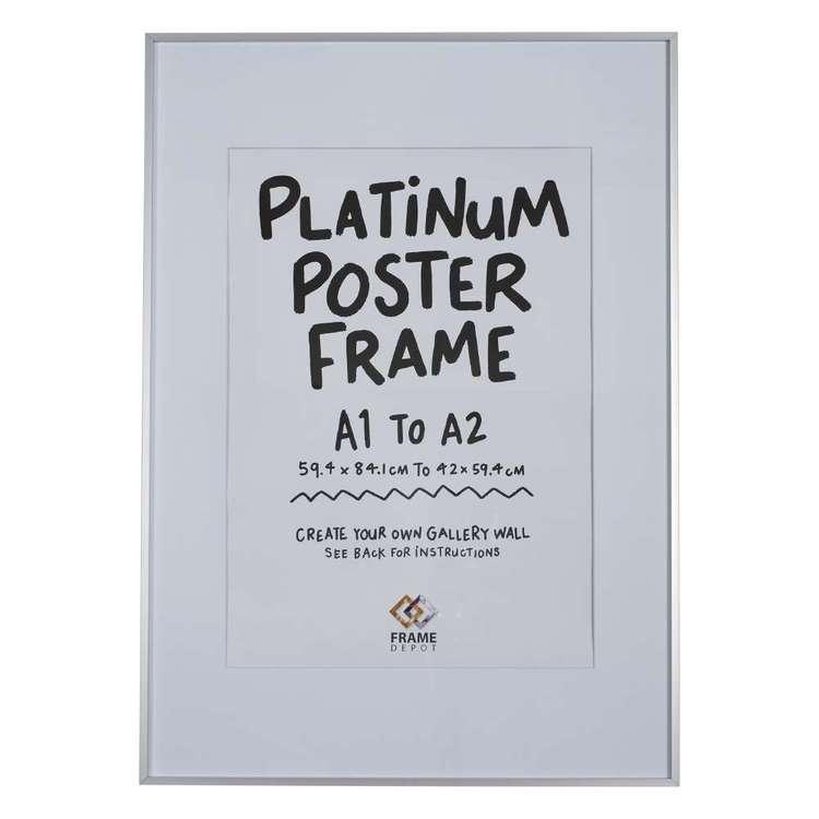 Frame Depot Platinum Metal Poster Frame