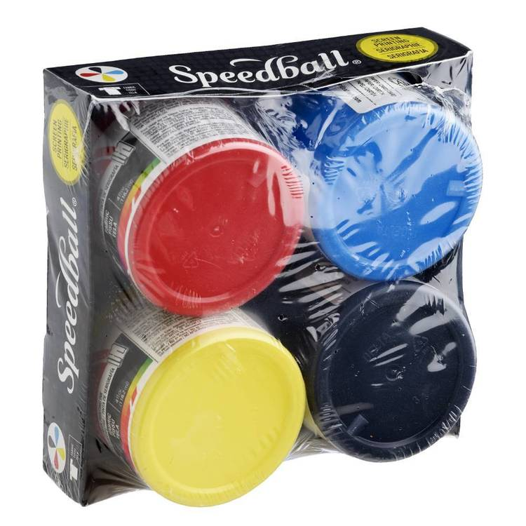 Speedball Fabric Ink Set 4 Colour Multicoloured