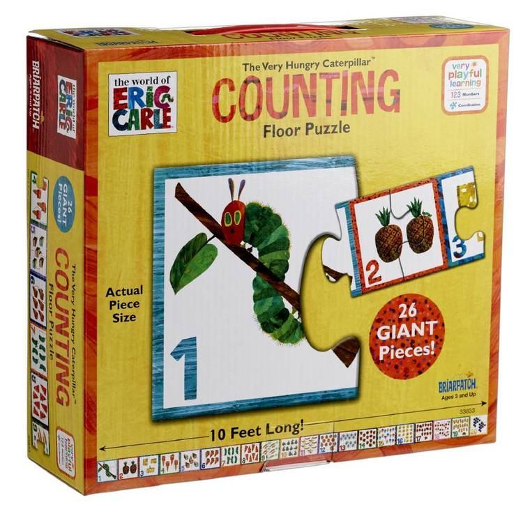 The World Of Eric Carle Caterpillar Counting Floor Puzzle Multicoloured