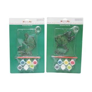Jolly & Joy Santa & Deer Ornament Paint Kit