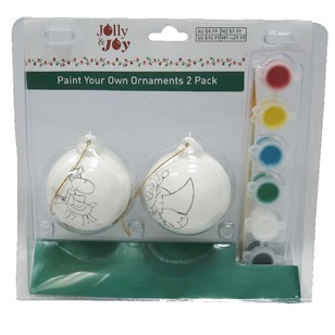 Jolly & Joy Paint Your Own Ornaments Pack