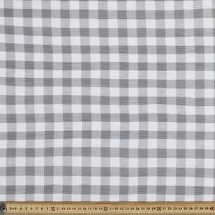 Gingham Crinkle Cotton Fabric