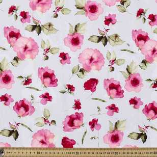 Roses Digital Printed Cotton Linen Fabric