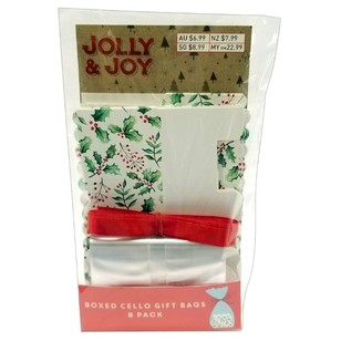 Jolly & Joy Cello Holly Gift Bag Pack