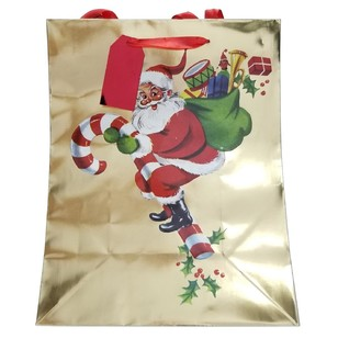 Jolly & Joy New Traditions Vintage Santa Large Gift Bag