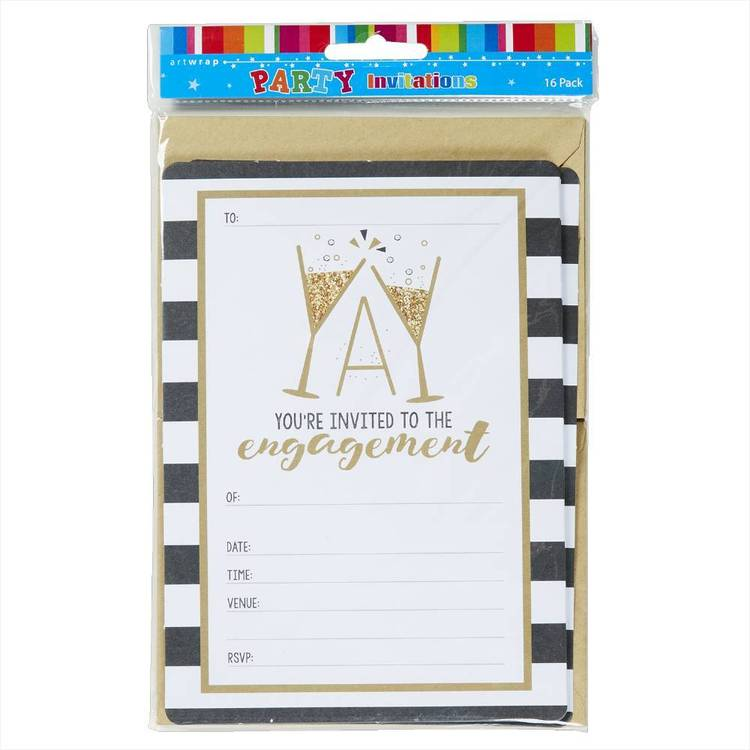 Artwrap Engagement Invitations 16 Pack