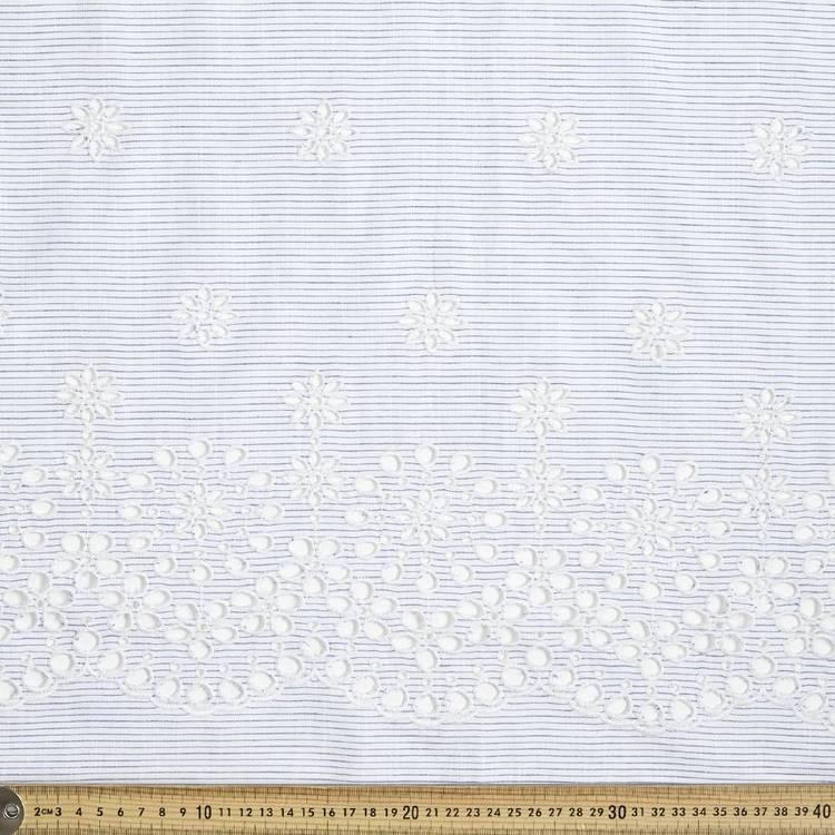 Stripe Daisy Yarn Dyed Embroidery