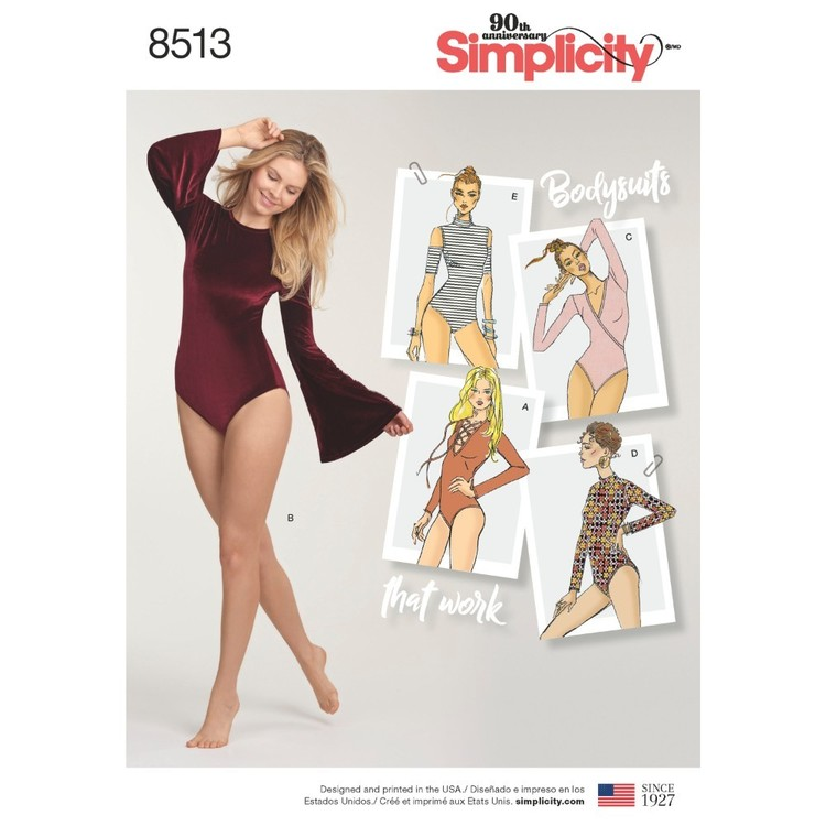 Simplicity Pattern 8513 Misses' Knit Bodysuits