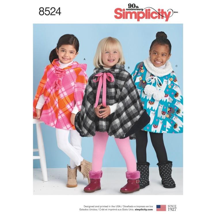 Simplicity Pattern 8524 Child's Poncho