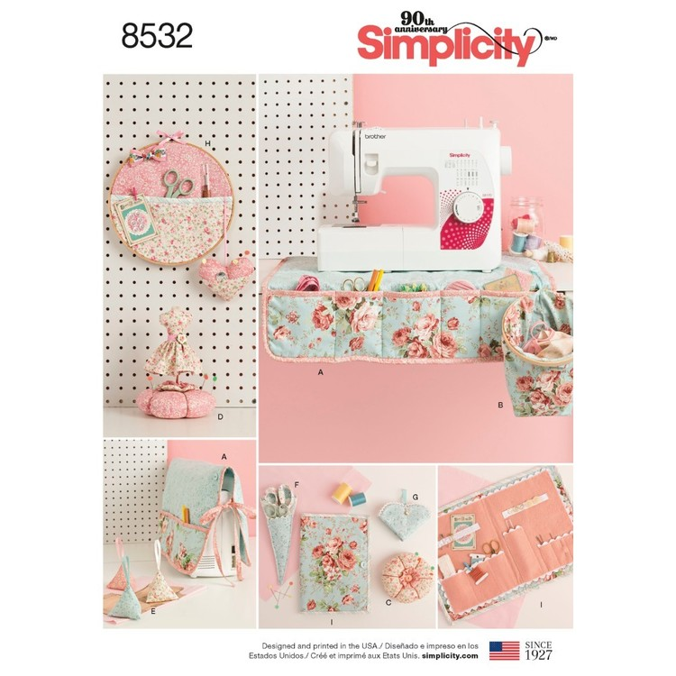 Simplicity Pattern 8532 Sewing Room Accessories