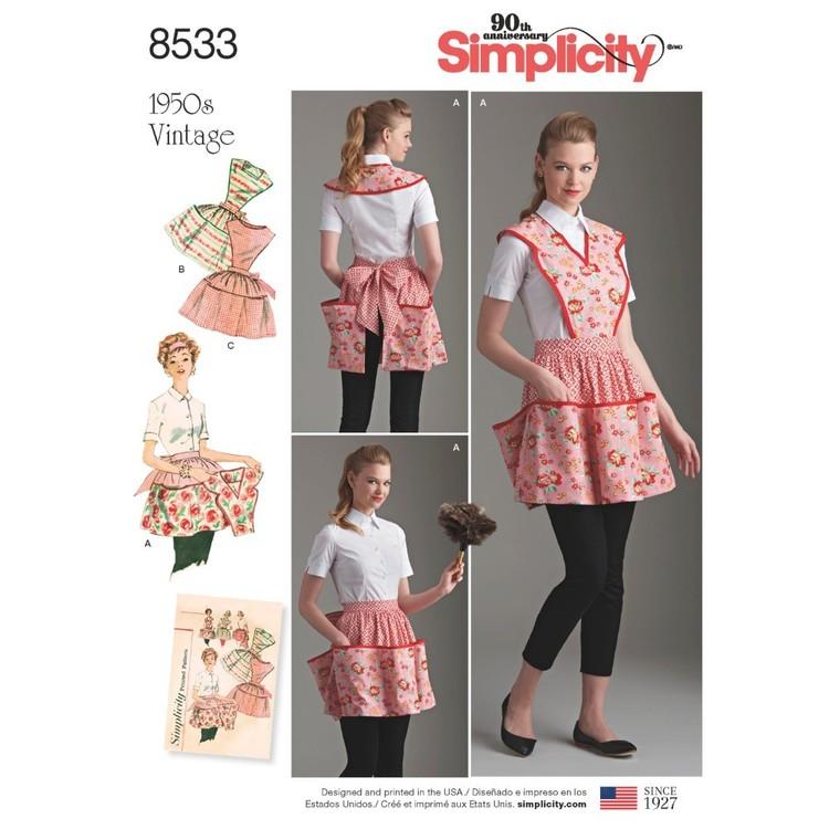 Simplicity Pattern 8533 Misses' Vintage Apron