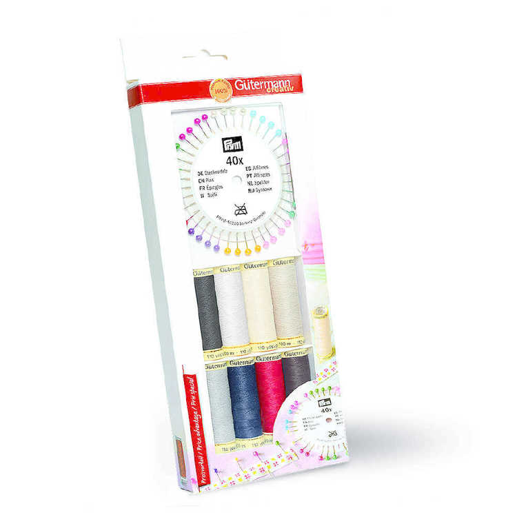 Gutermann Thread Set with 40 Prym Pearl Pins