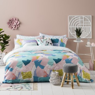 Ombre Home Pastel Abstract Celeste Quilt Cover Set