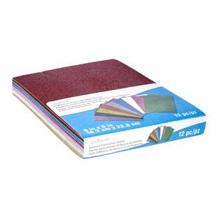 Creatology Foam Sticky Glitter Sheets 12 Pack