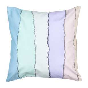 Ombre Home Pastel Abstract Celeste Stripe Cushion