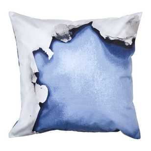 Ombre Home Pastel Abstract Celeste Rip Cushion
