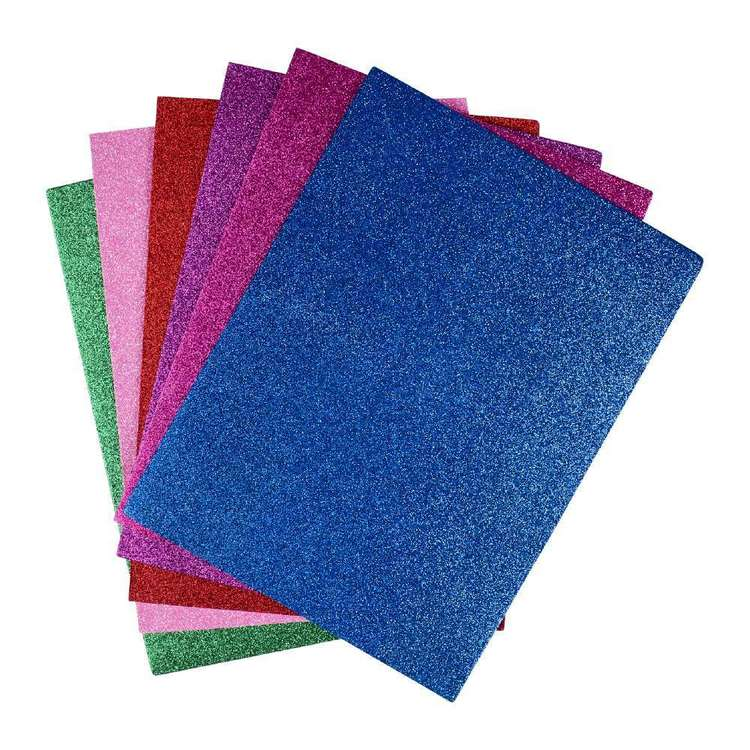Creatology Foam Sticky Glitter Sheets 6 Pack
