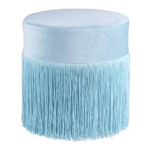 Ombre Home Pastel Abstract Stool with Fringe
