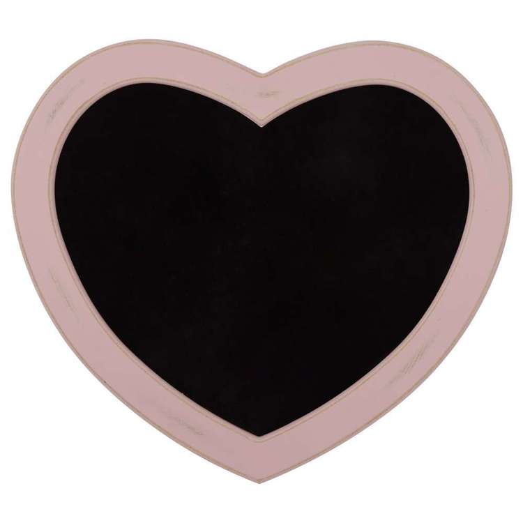 Bouclair Luna Heart Shape Chalk Board Pink
