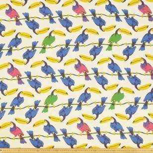 Toucan Printed Cotton Fabric