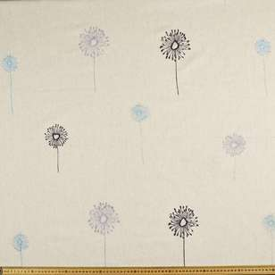 Daizee Embroidered Linen Blend Fabric