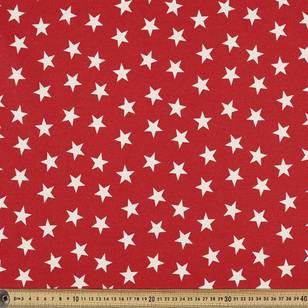 Scandi Christmas Large Stars Quilting Fabric