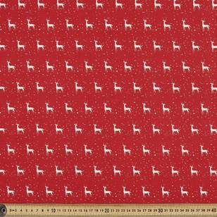 Scandi Christmas Deer Quilting Fabric
