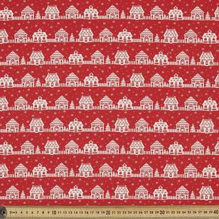 Scandi Christmas Village Quilting Fabric