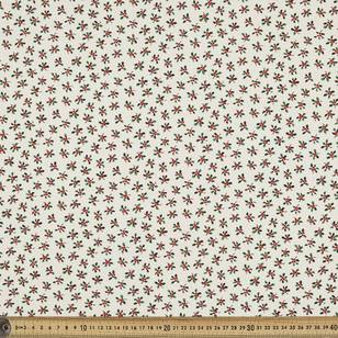 Scandi Christmas Holly Quilting Fabric