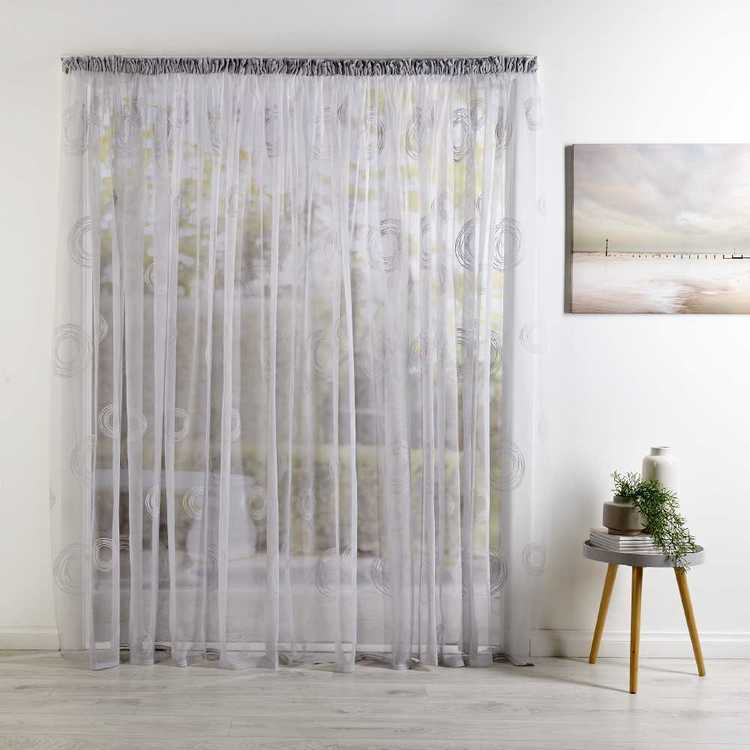 Filigree Spin Continuous Sheer Curtain Fabric