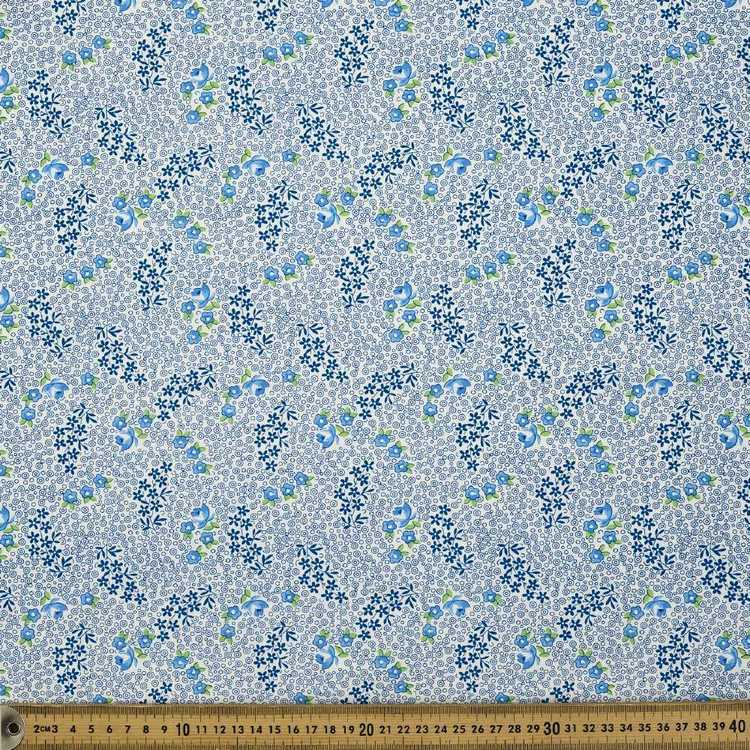Vintage 30's Floral Dot