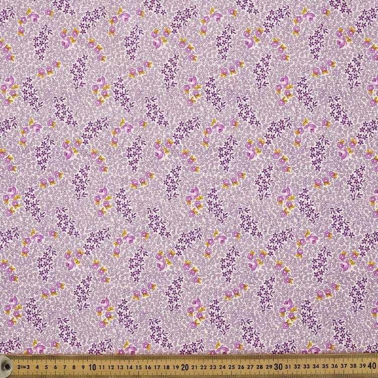 Vintage 30's Purple Floral Dot