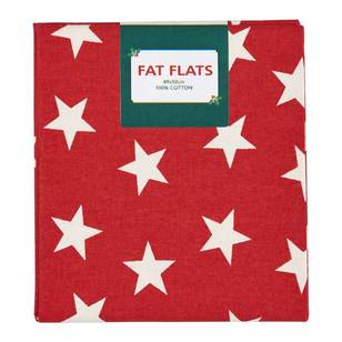 Scandi Christmas Large Stars Flat Fats Fabric